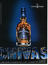 PUBLICITE ADVERTISING 114  2008  CHIVAS REGAL   whisky  18 ans d'age