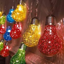 20 Multi Colore Lampadina LED Festoon Globe Stringa Lucine INDOOR OUTDOOR