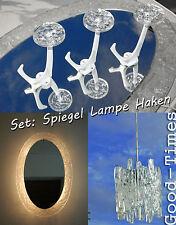 70er Jahre beleuchteter Spiegel+Hängelampe+3 Haken im Set  Space Age Lampe