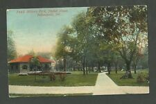 1912 Used Postcard Military Park Shelter House Indianapolis indiana 7448