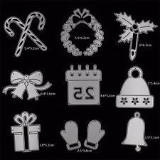 10x Christmas Metal Cutting Dies Stencil Scrapbooking Album Embossing Craft DIY