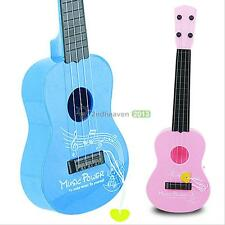 Kids Baby 17'' Wood Toy 4 String Acoustic Guitar Wisdom Development Musical Gift