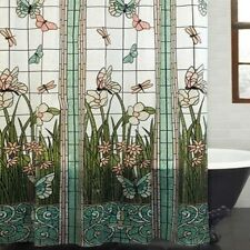 Shower Curtain Stained Glass Meadow PEVA Bathroom 70 x 72 Inches NEW