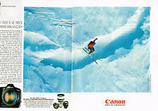 PUBLICITE  1995   CANON  appareil photo ( 2 pages) EOS 1N
