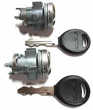 2 NEW CHRYSLER DODGE Door Lock Cylinder Coded With 2 Rubber Head Keys - LOCKSET