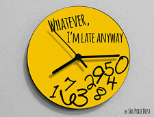 Whatever I'm Late Anyway / Round Yellow- Wall Clock