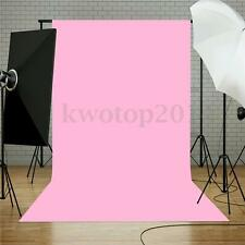 Vinyl Pure Pink Photography Background Cloth Backdrop Photo For Studio 5x7FT