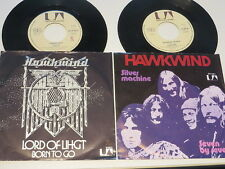 2x Hawkwind :  Lord od Light  / Siver Machine  in German Picture Sleeves