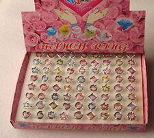 Wholesale Lots Cute Rings Box Set (72pcs) Kids Girl Birthday in box Gift