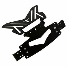 Black Motorcycle Universal Number Plate Holder Tail Tidy Bracket Hanger Slide