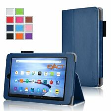 Exact Pro Magnetic Folio PU Leather Case for Amazon Kindle Fire HD 7 Navy Blue