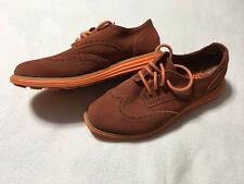 Skechers Groove Lite 8 Orange Wing Tip Oxford Rust Orange Suede Shoes
