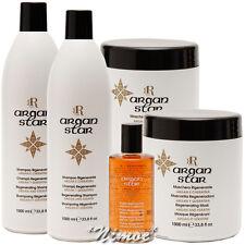 Argan Star 2 x1Lt Shampoo + 2 x1Lt Mask +1 Regenereting Fluid RR Line Racioppi ®