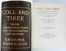 *1903*COLL & TIREE*BEVERIDGE*HEBRIDES*SCOTTISH ARCHAEOLOGY*MAP*ONLY 300 COPIES*
