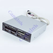 3.5 Internal Card Reader USB 2.0 Micro SD SDHC MMS XD M2 CF W/ Power 4 Port HUB
