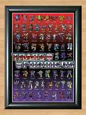 TRANSFORMERS ANIMATED A4 PRINT POSTER 62 CHARACTERS Cartoon Movie Optimus Prime