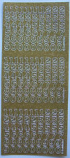 SPARKLE / GLITTER NUMBERS 10MM GOLD PEEL OFF STICKERS CARDMAKING SCRAPBOOKING