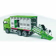 Bruder Toys 02749 Pro Series MAN Cattle Transporter LORRY with COW Toy 1:16