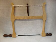 "NEW!Handcrafted 12"" Woodworkers Bow Saw.Figured Maple. Walnut Handles and Toggle"