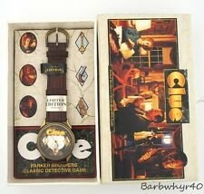 Clue L.E. Advertising Board Game Character Watch in Box for Parker Brothers