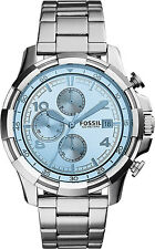 FOSSIL Dean Chronograph Silver Dial  FS 5155 Men's Watch