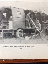 R3 Ephemera 1918 Picture British Aircraft Repair Shop Front Line