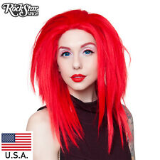 "RockStar Wigs Lace Front 18"" Layered Yaki - Red Mix -00789  Wig USA"
