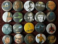 Star Trek Button Badges x 20. Pins. Job lot. Wholesale. Collector. Bargain :0)