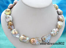 "18"" 31mm baroque lavender reborn keshi pearl necklace"