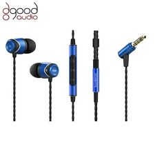 Soundmagic E10C award winning in-ear smartphone mobile casque bleu et noir