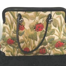 BRIGHTON ALYSSA LADYBUG TAPESTRY PURSE TOTE SHOULDER BAG CARRYALL