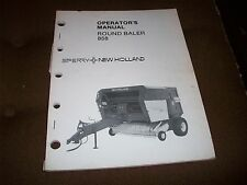 New Holland 858 Hay Round Baler Operator's Manual