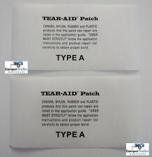 2 x TEAR AID TYPE A - REPAIR PATCHES FREE SHIP Tent, Pack, Swag, Backpack