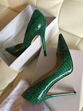 Jimmy Choo 'Anouk' Genuine Green Snakeskin Kardashian Celebrity Pump 41 NWT $795