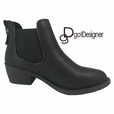 NEW Womens Shoes Ankle Boots Slouch Comfort Flat Casual Strap Buckle Round Toe