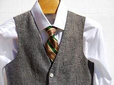 Topman 36 Gentleman's Black & White / Grey Waistcoat / Vest