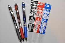 Pentel EnerGel Rollerball Pen 0.3 mm + Refill Set (color can exchange)