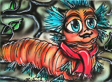 LABYRINTH William the Worm Original Sketch Card Painting by Bianca Thompson