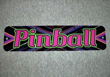 Metal Sign PINBALL machine game room arcade table vintage retro man cave