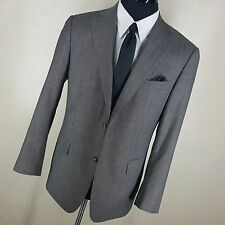 SUITSUPPLY GRAY STRIPE SPORT COAT 2 BUTTON SIDE VENTS 10% MOHAIR  90%WOOL 44REG
