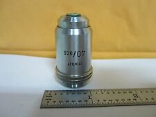 MICROSCOPE PART OBJECTIVE 40X LEITZ GERMANY OPTICS BIN#N7-64