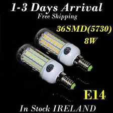 4pcs X E14 SES 8W 36SMD 5730 LED Energy Saving Corn Lamp Bulbs Day White AC220V