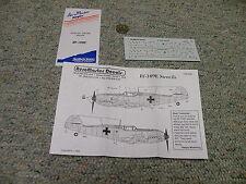 Aeromaster  decals 1/48 148- 006 Stencils Bf-109E     N124