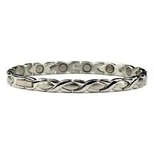 Silver Tone XOXO - Stainless Steel Magnetic Bracelet