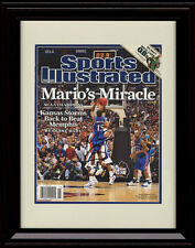 Framed Mario Chalmers Sports Illustrated Auto Replica Print Kansas Jayhawks