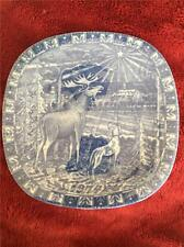RORSTRAND SWEDEN JULEN 1974 LIMITED EDITION CHRISTMAS PLATE REINDEER
