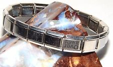 Alcoholics Anonymous AA NA Turn It Over Italian Bracelet Stainless Steel 18 Link