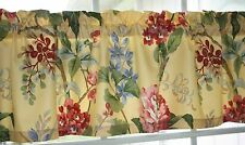 "VALANCE WAVERLY YELLOW FLORAL LEMON BLISS  53""X13"" WITH LINING"