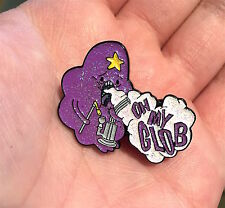 Glitter Lumpy Space Princess Dab Weed Adventure Time Rave Festival EDM Hat Pin