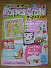 PAPERCRAFT INSPIRATIONS CRAFT MAGAZINE SEPT 2007 ANIMALS STAMPING MUSIC LETTERS
